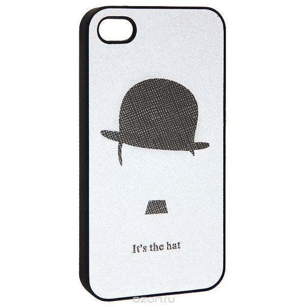 "Кавер на iphone 4 ""чаплин"", цвет: черный, белый. 0700771, Ezh-style"