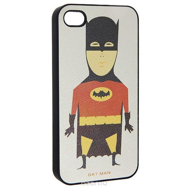 "Кавер на iphone 4 ""как бэтмен"", цвет: бежевый. 0700773, Ezh-style"
