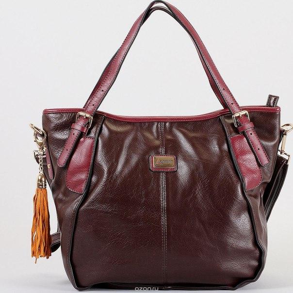 Сумка женская , цвет: бордовый, коричневый. 76562-5594/292/46/551 бор, Leighton
