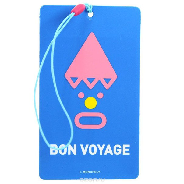 """Бирка для чемодана """"bon voyage"""", Ezh-style"""