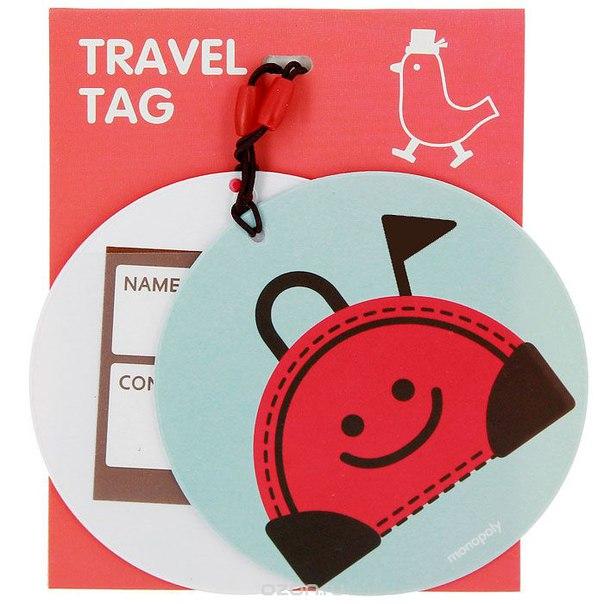 "Бирка на багаж ""птица путешественница"", 2 шт в ассортименте, Suny. D"