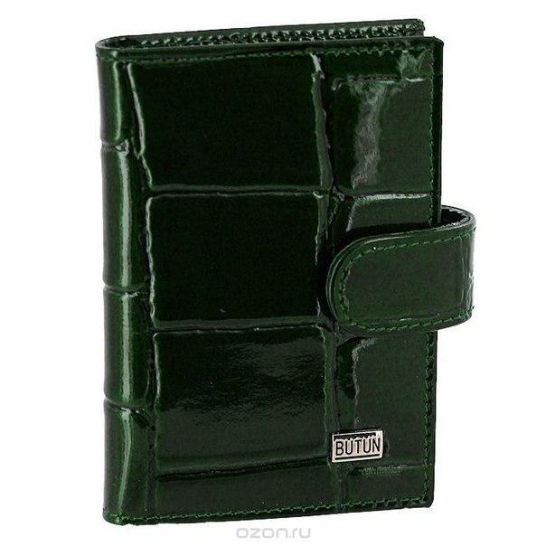 Футляр для визиток , цвет: темно-зеленый. 152-007 024, Butun