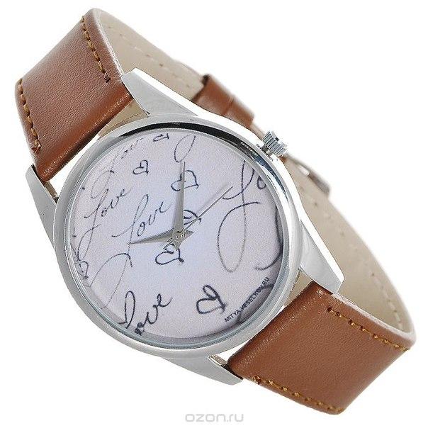 "Часы наручные ""love"", цвет: светло-коричневый. color-14, Mitya Veselkov"