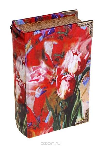 "Ключница-книга настенная ""красные тюльпаны"". 622906, Sima-land"