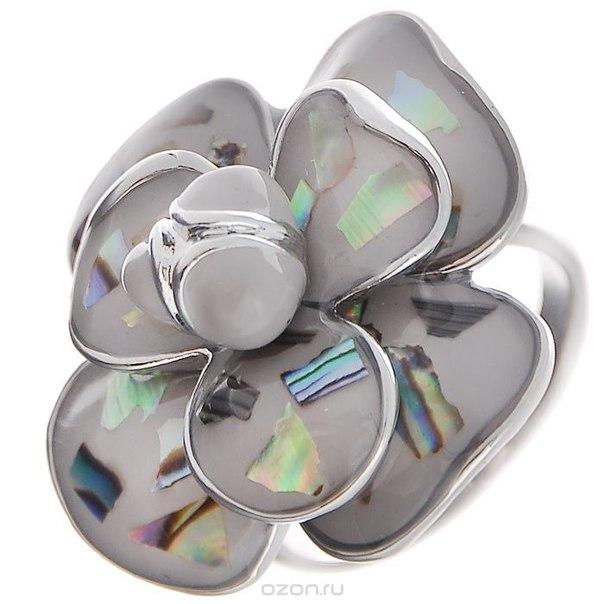 Кольцо , цвет: серебристый, серый. размер 18. fh30451, Fashion House