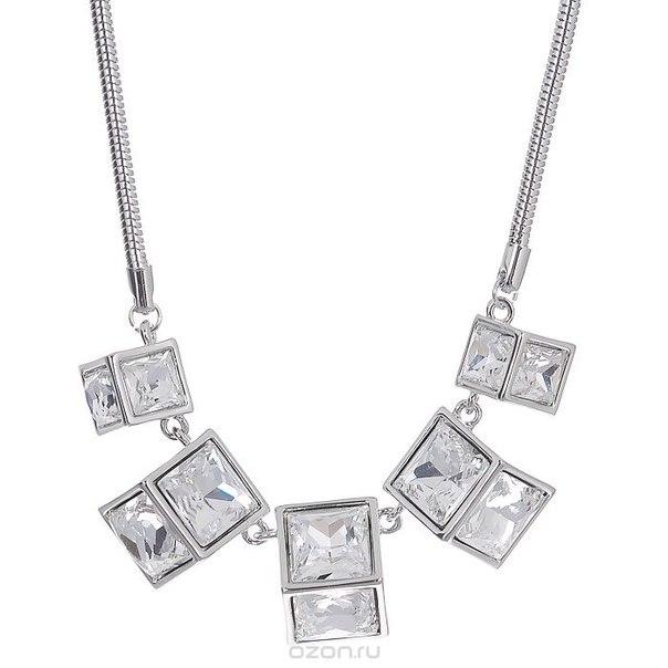 """Колье """" lx"""", цвет: серебристый. t-b-7179-neck-silver, Taya"""
