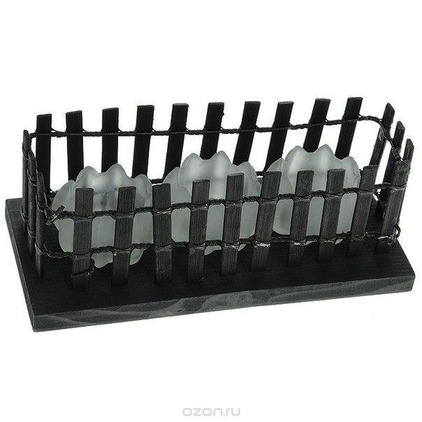 """Декоративный подсвечник """"забор"""" на 3 свечи. ф21-575, Феникс-презент"""