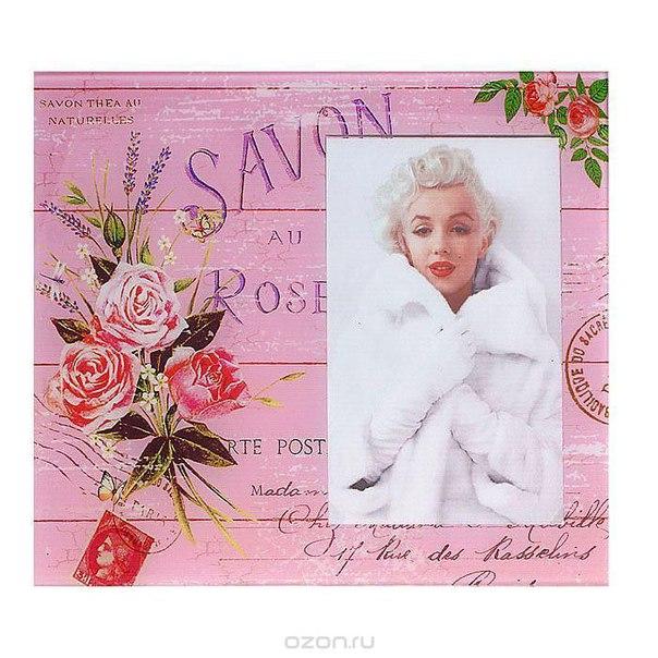 """Декоративная фоторамка """"винтаж"""", цвет: розовый, 10 см х 15 см. 521705, Sima-land"""