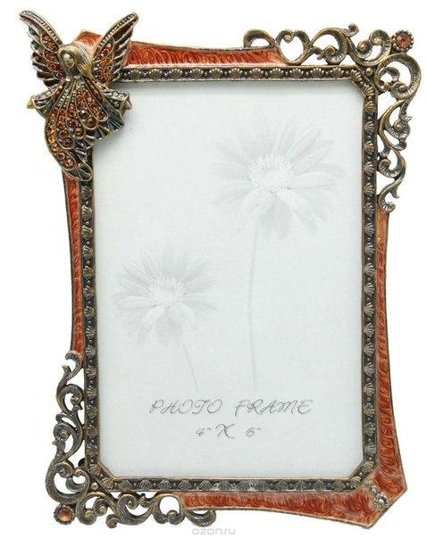 """Фоторамка  """"ангелы"""", цвет: малиновый, 10 см х 15 см, Jardin d'Ete"""
