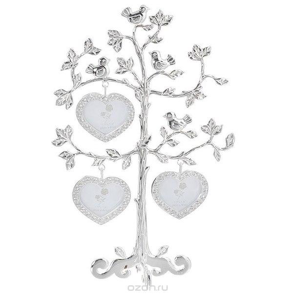 """Декоративная фоторамка """"дерево"""", на 3 фото. 264004, Bianco Sole"""