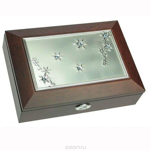 Шкатулка ювелирная , цвет: коричневый, 18 см х 13 см х 5 см. 39691, Moretto
