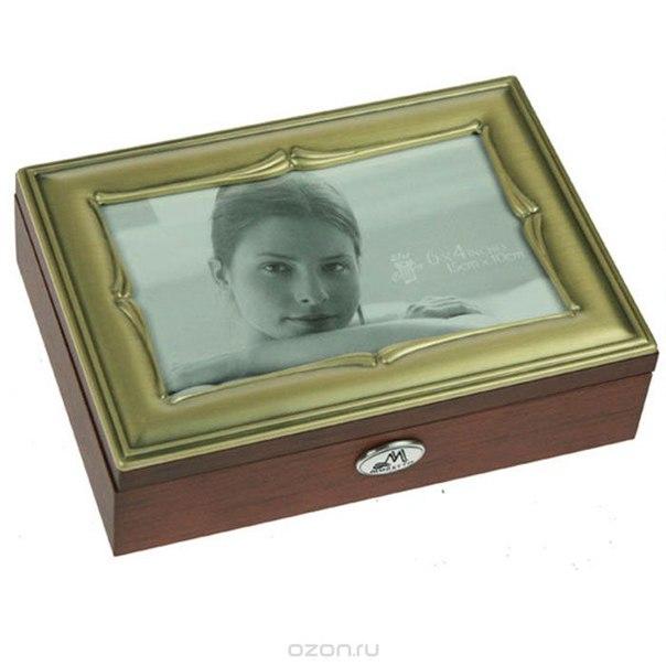 Шкатулка ювелирная , цвет: коричневый, 18 см х 13 см х 5 см. 39799, Moretto