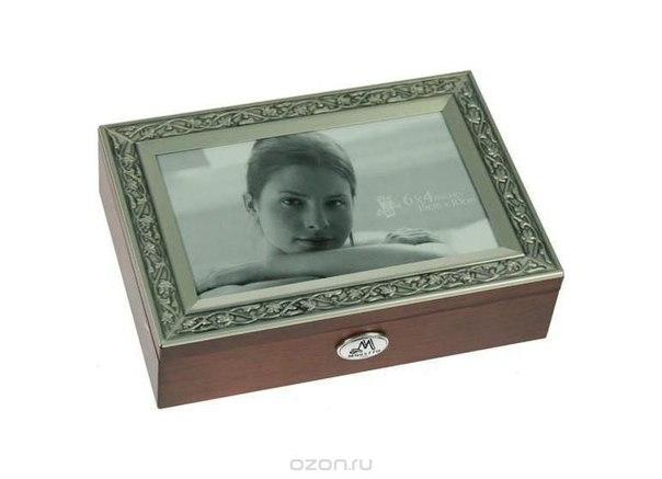 """Шкатулка ювелирная """"moretto"""", цвет: коричневый, 18 см х 13 см х 5 см 39800, Русские подарки"""