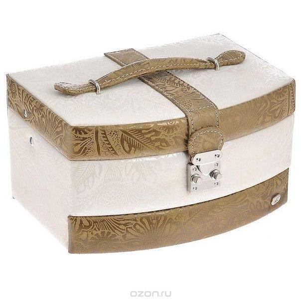 Шкатулка для украшений , цвет: белый, коричневый. wg002h, Jardin d'Ete