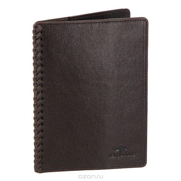 Обложка для паспорта , цвет: темно-коричневый. 3304-002 v/brown, Cangurione