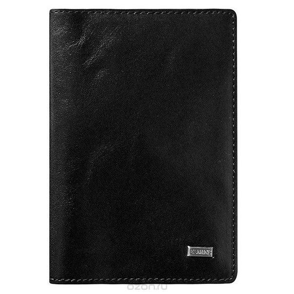Обложка для паспорта , цвет: черный. 302 ml/1n ed, Edmins