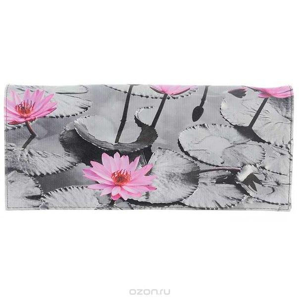 Клатч , цвет: серо-розовый. 10184-39/3753/23/1070/602, Flioraj