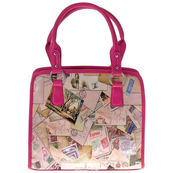 """Сумка женская  """"конверты"""", цвет: бежево-розовый. 31482, Flioraj"""
