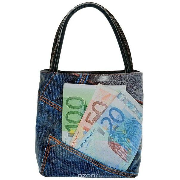 """Сумка женская """"джинса и евро"""", цвет: синий. 39438-3/1070/706/5320, Flioraj"""