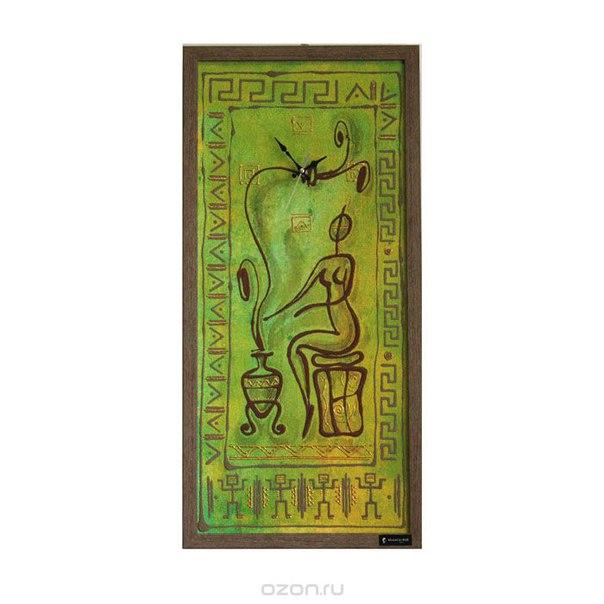 """Часы настенные """"donna a casa"""", цвет: зеленый, коричневый. рм-011, Mauricio Relli"""