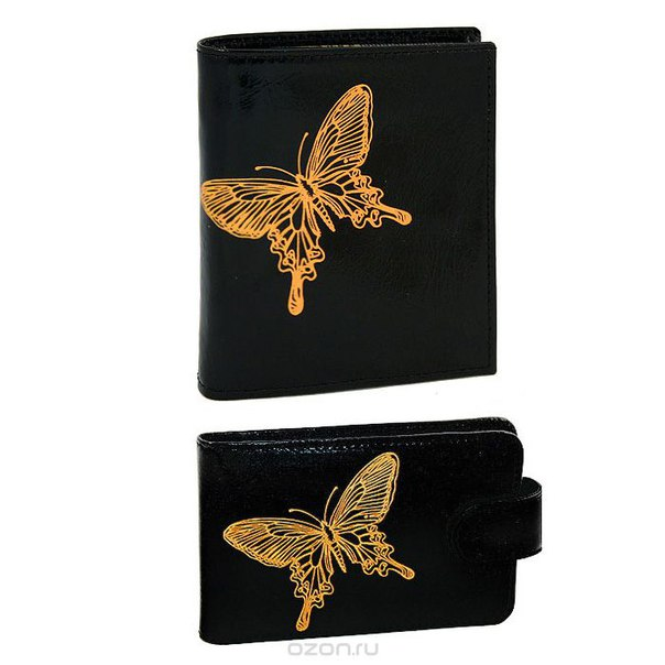 """Подарочный набор """"paradisland"""": портмоне, визитница, цвет: черный. pj.6.nk.черный/v.25.nk.черный, Askent"""