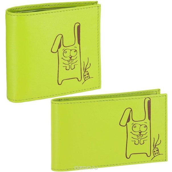 Подарочный набор : портмоне, визитница, цвет: лайм. pj.35.аm.лайм/v.38.лайм, Askent