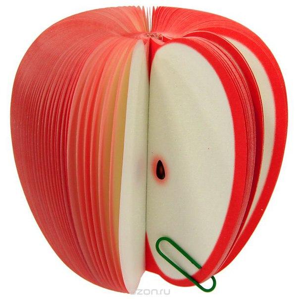 """Блокнот для записей """"яблоко"""", цвет: красный, Ezh-style"""