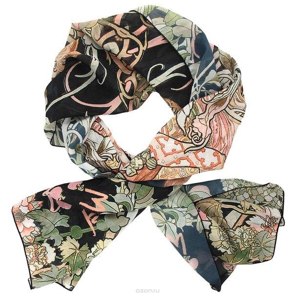 "Шарф ""девушка и цветы"", 50 см х 140 см, Fuzhou Bigbrella Import And Export Co., Ltd."