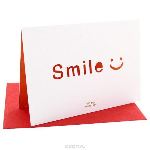 """Открытка """"smile"""", Ezh-style"""