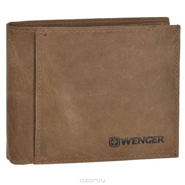 Портмоне , цвет: коричневый. wew001.70, Wenger