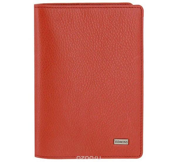 Обложка для паспорта , цвет: красный. 302 ml/1n, Edmins