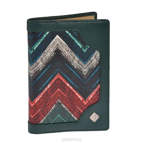 Обложка для паспорта , цвет: зеленый. 4047-15492/14635/f, Flioraj