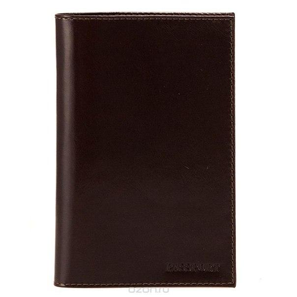 Обложка для паспорта , цвет: темно-коричневый. o.1.a, Askent