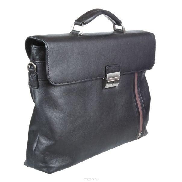 Портфель мужской , цвет: черный. 9514-38 garage blk/brgn, Sergio Belotti