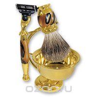 Бритвенный набор , цвет: золотистый, с коричневым перламутром. 6308, S.Quire