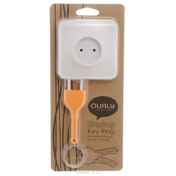 """Держатель для ключей """"розетка"""", цвет: оранжевый, Ezh-style"""