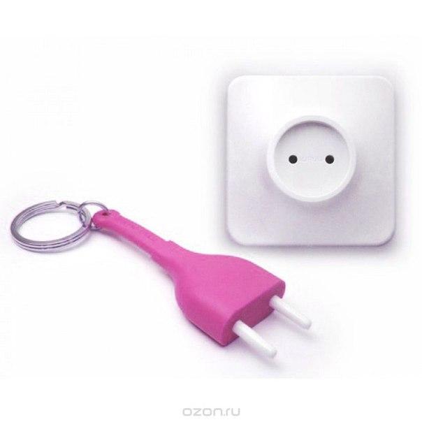 """Держатель для ключей """"розетка"""", цвет: розовый, белый. 002478, Карамба"""