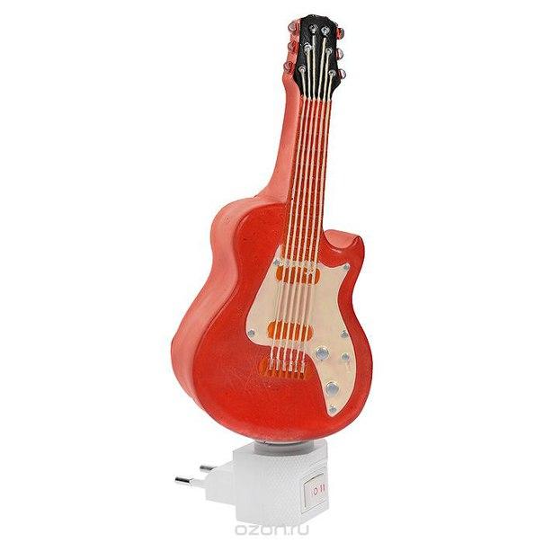 """Ночник декоративный """"гитара"""", цвет: красный. 29335, Феникс-презент"""