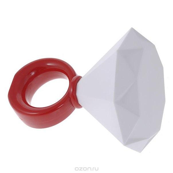 """Светильник """"кольцо с бриллиантом"""", цвет: красный, белый. 94922, Эврика"""