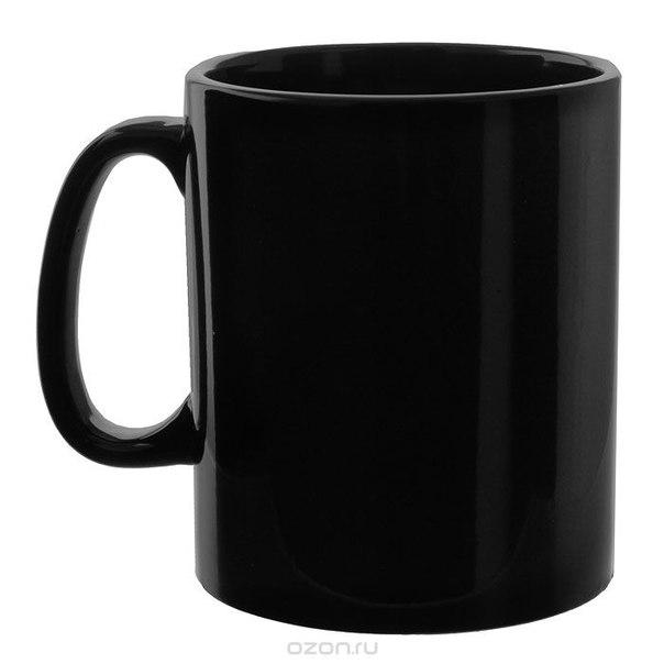 Кружка , цвет: черный, Эврика