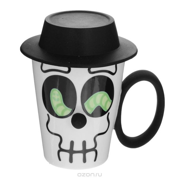 """Кружка """"face mug"""", 250 мл, цвет: белый, черный. 24473, Pylones"""