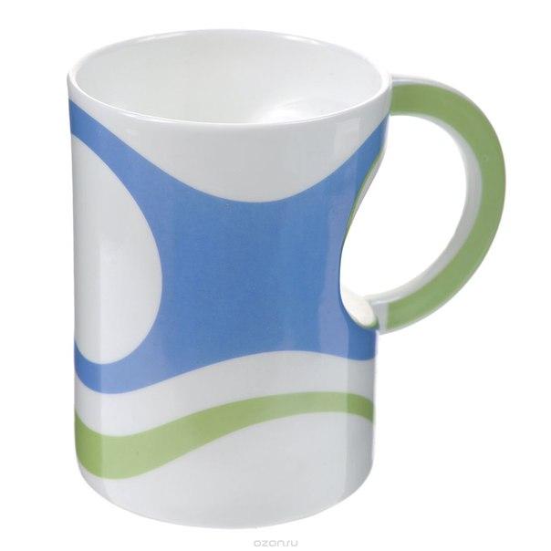 Кружка , цвет: голубой, белый, зеленый. 003406, Карамба