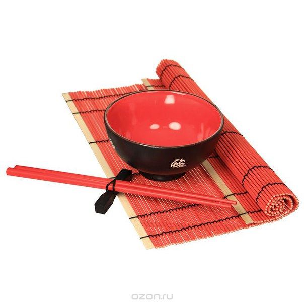 """Набор для риса """"красное и черное"""", 13 предметов, Win Max Ent."""