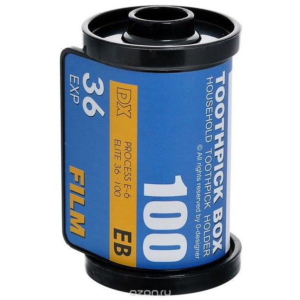 """Подставка для зубочисток """"кассета для фотопленки"""", цвет: синий. 94517, Эврика"""
