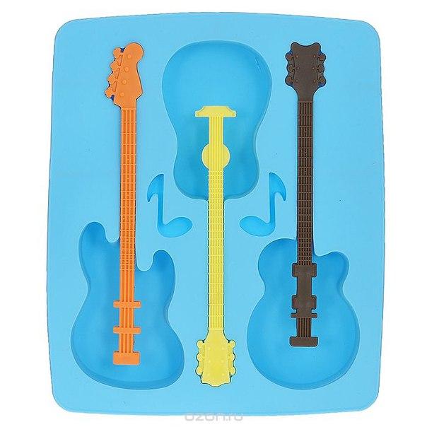 "Форма для льда ""гитара"", цвет: голубой. bw13031, Ningbo Bothwins Imp & Exp Co.Ltd"