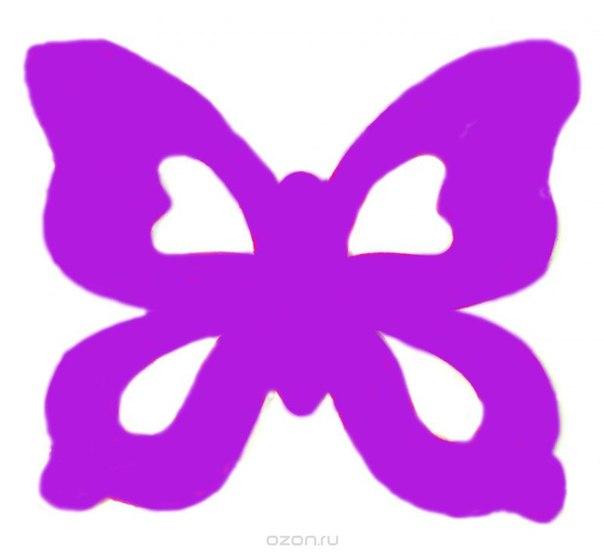 """Набор подставок под кружки """"бабочка"""", цвет: фиолетовый, 6 шт, Карамба"""