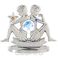 "Сувенир ""знаки зодиака: близнецы"", цвет: серебристый, 7 см, Crystocraft"