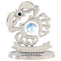 """Сувенир """"знаки зодиака: рак"""", цвет: серебристый, 7,5 см, Crystocraft"""