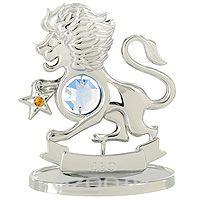 """Сувенир """"знаки зодиака: лев"""", цвет: серебристый, 8 см, Crystocraft"""