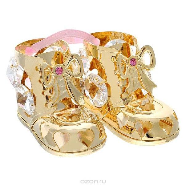 """Фигурка декоративная """"пара пинеток"""", цвет: розовый, золотистый. 692711, Sima-land"""